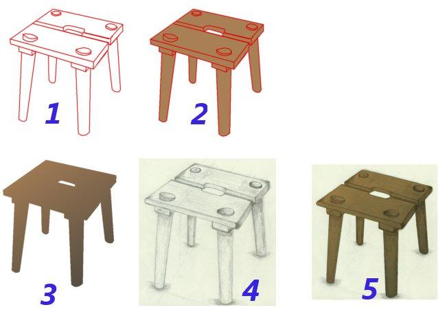 4 3 Ein Stuhl Gimp Werkstatt