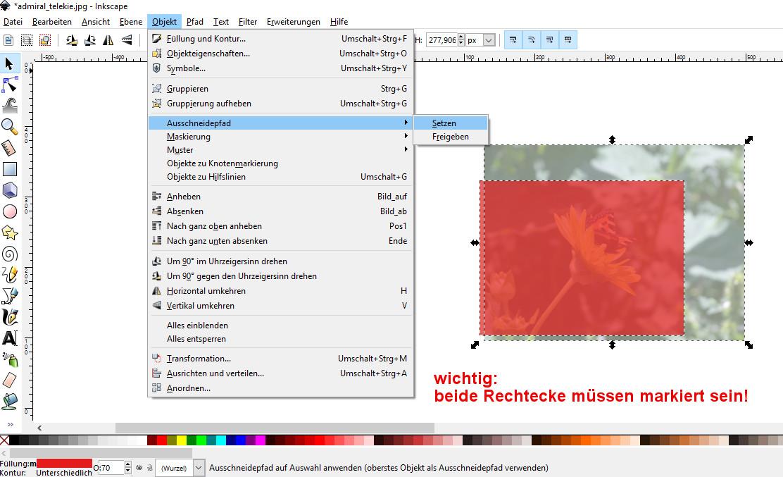 inkscape bild zuschneiden