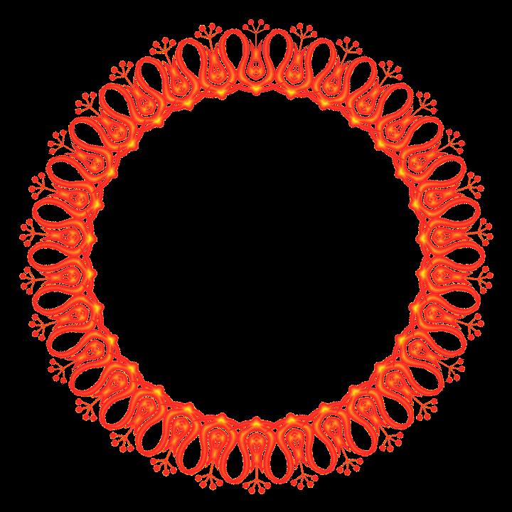 Runder Bilderrahmen aus Pinselspitzen oder Schriftsymbolen - GIMP ...